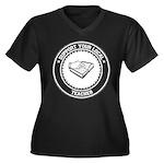 Support Teacher Women's Plus Size V-Neck Dark T-Sh