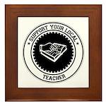 Support Teacher Framed Tile