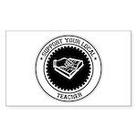 Support Teacher Rectangle Sticker