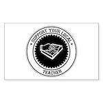 Support Teacher Rectangle Sticker 50 pk)