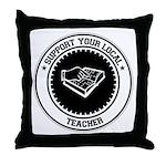 Support Teacher Throw Pillow