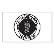 Support Tax Preparer Rectangle Decal