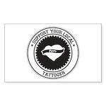 Support Tattooer Rectangle Sticker 10 pk)