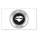 Support Tattooer Rectangle Sticker 50 pk)