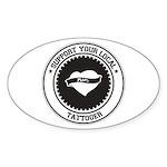 Support Tattooer Oval Sticker (50 pk)