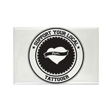 Support Tattooer Rectangle Magnet