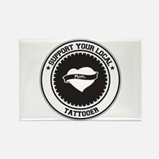 Support Tattooer Rectangle Magnet