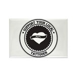 Support Tattooer Rectangle Magnet (10 pack)