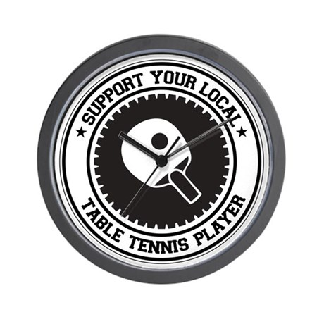Support Table Tennis Player Wall Clock
