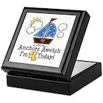 4th Birthday Sailboat Party Keepsake Box