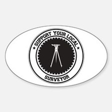 Support Surveyor Oval Decal