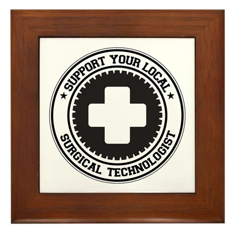 Support Surgical Technologist Framed Tile