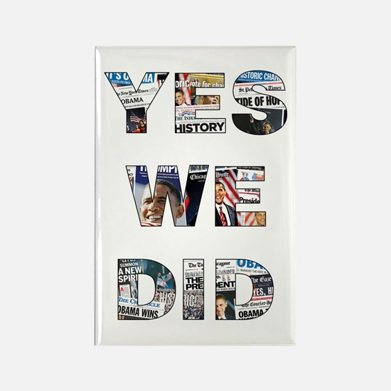 Obama Victory Around the World Rectangle Magnet