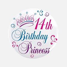 "14th Birthday Princess 3.5"" Button"