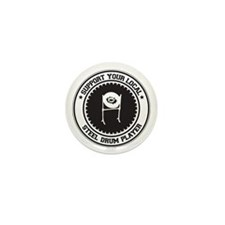 Support Steel Drum Player Mini Button