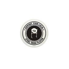 Support Steel Drum Player Mini Button (10 pack)