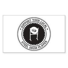 Support Steel Drum Player Rectangle Sticker 10 pk