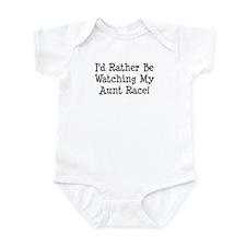 Watch My Aunt Race Infant Bodysuit