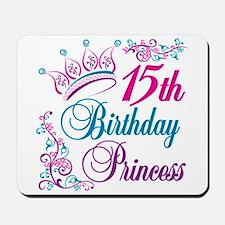 15th Birthday Princess Mousepad