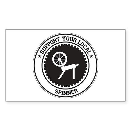Support Spinner Rectangle Sticker
