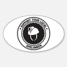 Support Spelunker Oval Decal