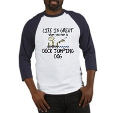 Life is Great Dock Jumping Baseball Jersey