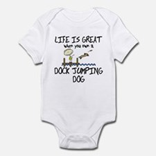 Life is Great Dock Jumping Baby Bodysuit