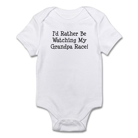 Watch My Grandpa Race Infant Bodysuit