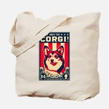 Obey the Welsh Corgi! Tote Bag