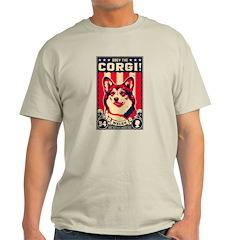 Obey the CORGI! Ash Grey T-Shirt