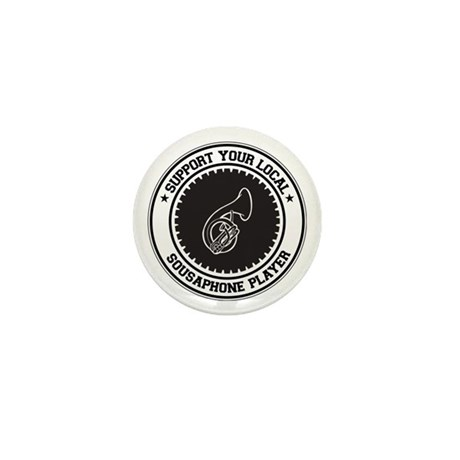 Support Sousaphone Player Mini Button