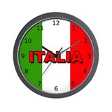 Italian flag Wall Clocks