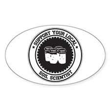 Support Soil Scientist Oval Decal