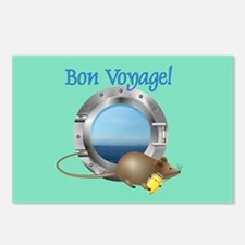 Sailing Mouse on Vacation Postcards (Package of 8)