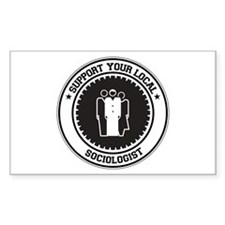 Support Sociologist Rectangle Decal