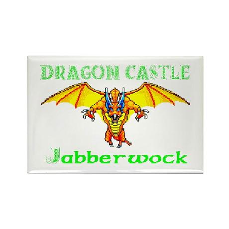 Dragon Castle Rectangle Magnet