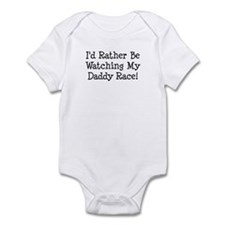Watch My Daddy Race Infant Bodysuit
