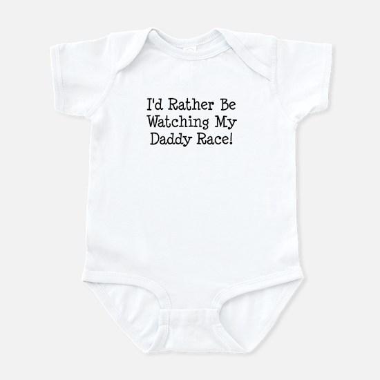 Watch My Daddy Race Infant Bodysuit