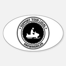 Support Snowmobiler Oval Decal