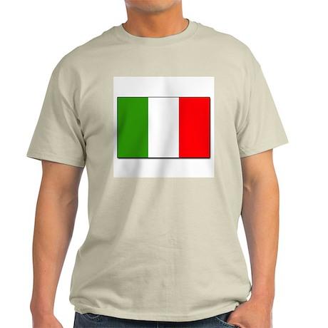 Italian Flag Ash Grey T-Shirt