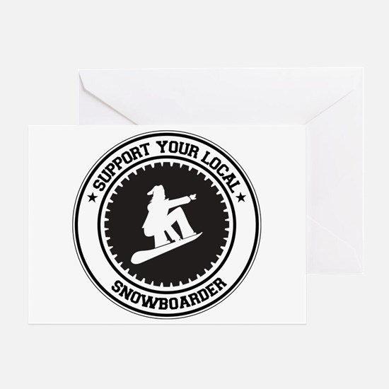 Support Snowboarder Greeting Card