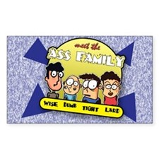 The Ass Family... Rectangle Decal