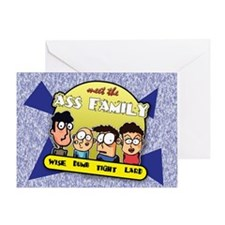The Ass Family... Greeting Card