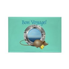 Sailing Mouse on Vacation Rectangle Magnet