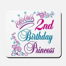 2nd Birthday Princess Mousepad