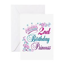 2nd Birthday Princess Greeting Card