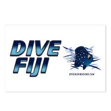 Dive Fiji (blue) Postcards (Package of 8)