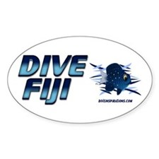 Dive Fiji (blue) Oval Decal