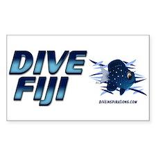 Dive Fiji (blue) Rectangle Decal
