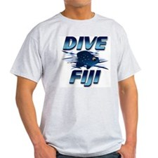 Dive Fiji (blue) Ash Grey T-Shirt